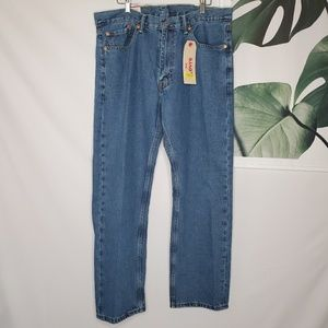 Levi's 505 Men's Jeans Medium Wash 36 x 30 NEW